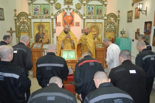Торжественная служба, посвященная юбилею Храма Новомученников и Исповедников Церкви Русской в ИК-7