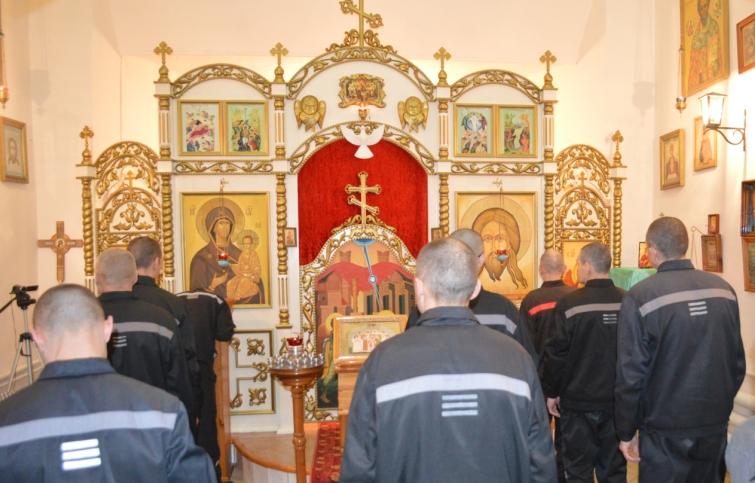 В храме при ИК-7 проведена божественная литургия